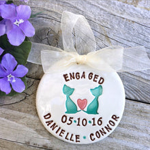 Personalized Engagement Ornament for Cat Lovers - Say Your Piece!
