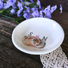 Personalized Ring Dish for Lovers - with Initials and Date - Say Your Piece!