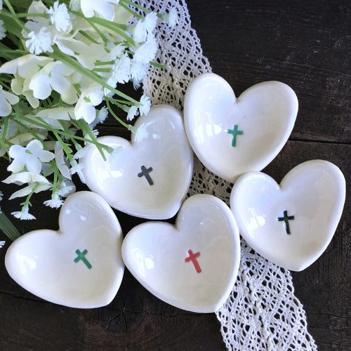 Tiny Heart Shaped Dish by Say Your Piece!