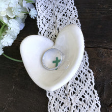 Heart Shaped Tiny Favors with Cross for Christenings & First Communions - Say Your Piece!