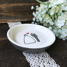 Wedding Couple Ring & Trinket Bowl - Gift Ready to Ship - Say Your Piece!