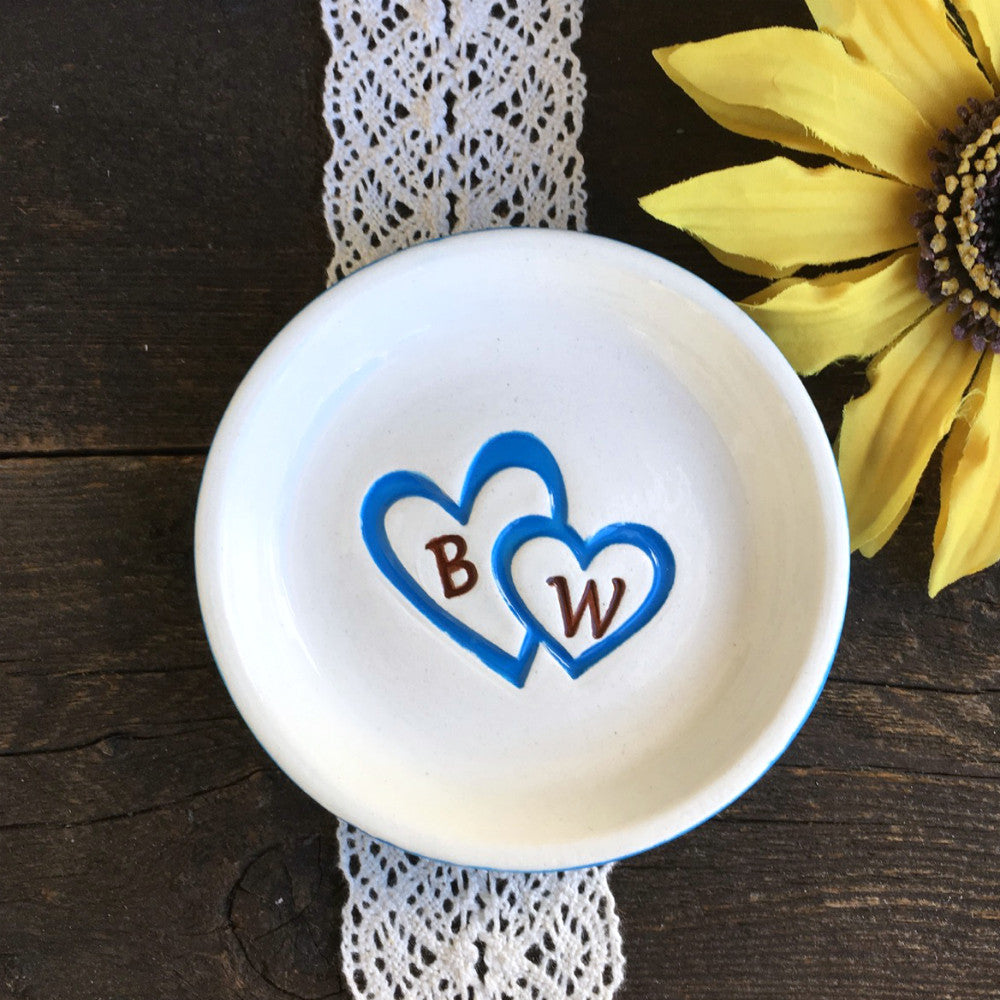 Double Hearts Ring Dish By Say Your Piece!