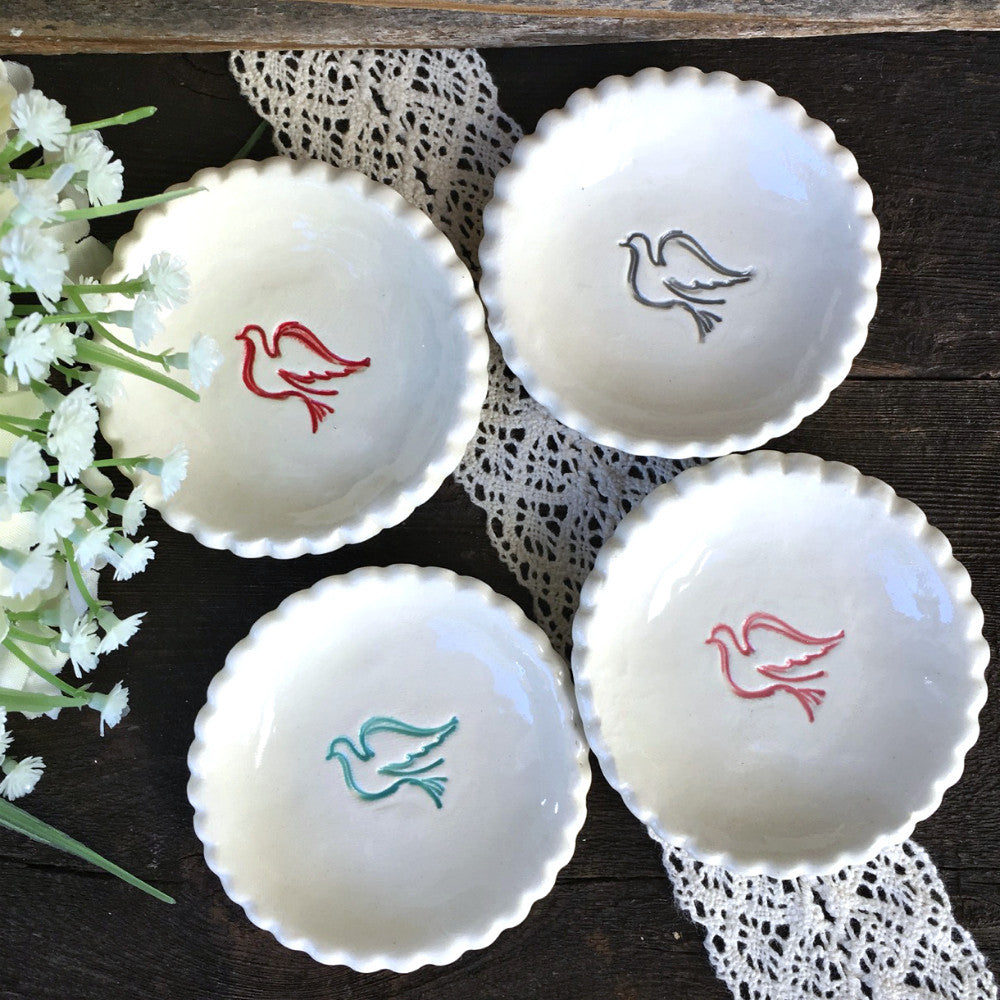 Dove Communion or Baptism Favor Dishes - Say Your Piece!