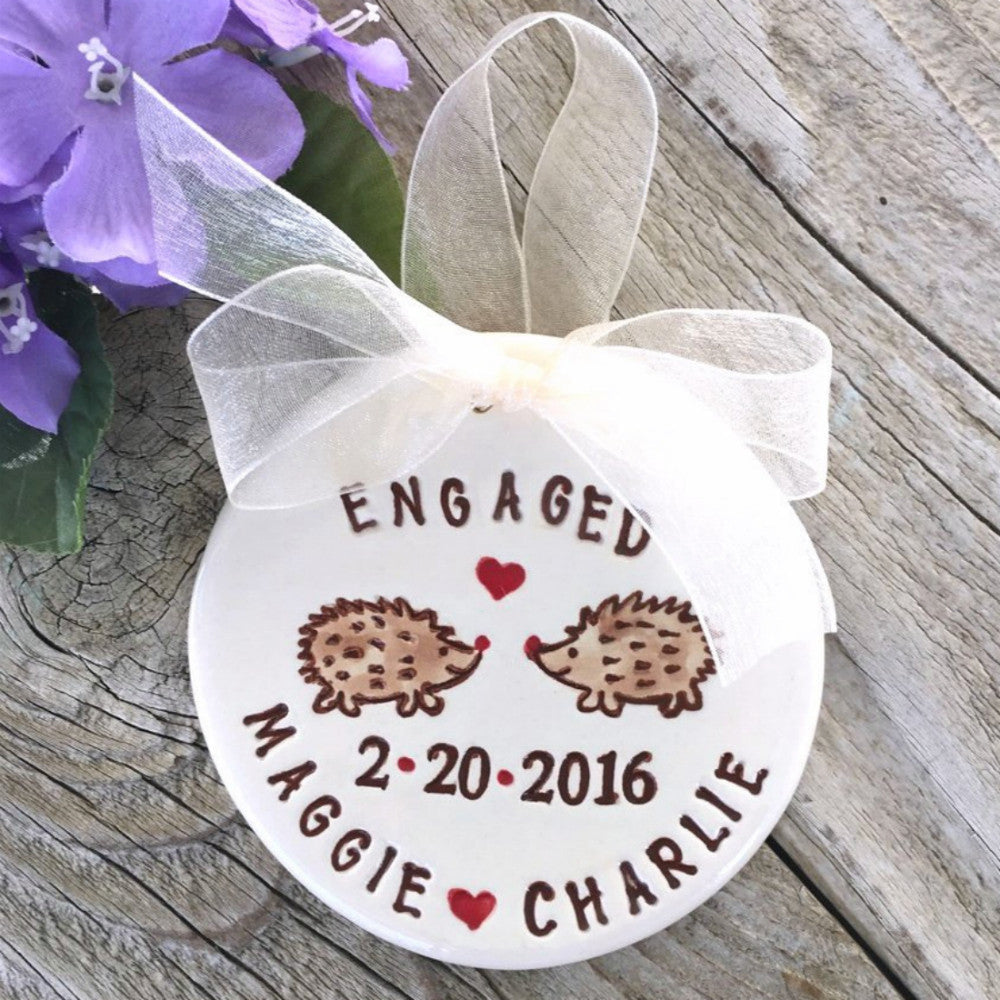 Personalized Engagement Ornament by Say Your Piece!