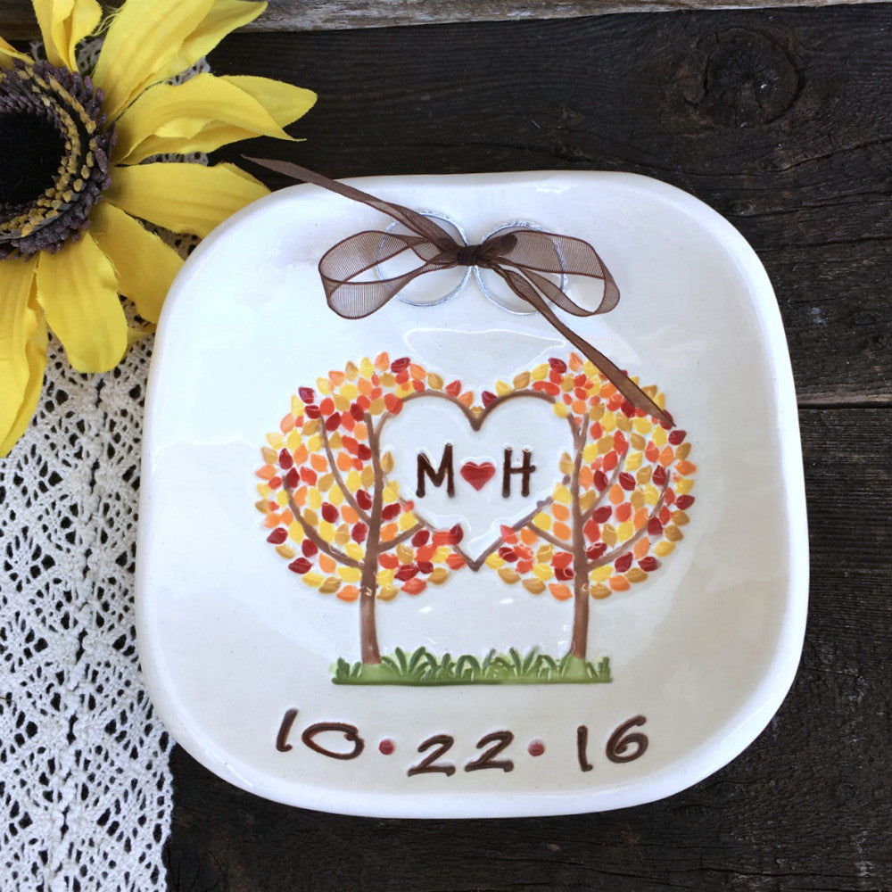 Wedding Ring Bearer Bowl - Family Trees by Say Your Piece! - Say Your Piece!