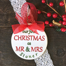 Our First Christmas as Mr & Mrs - Christmas Ornament