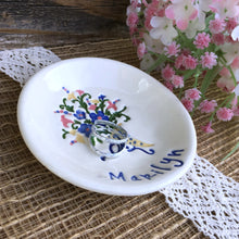Floral Bouquet Ring Dish by Say Your Piece!