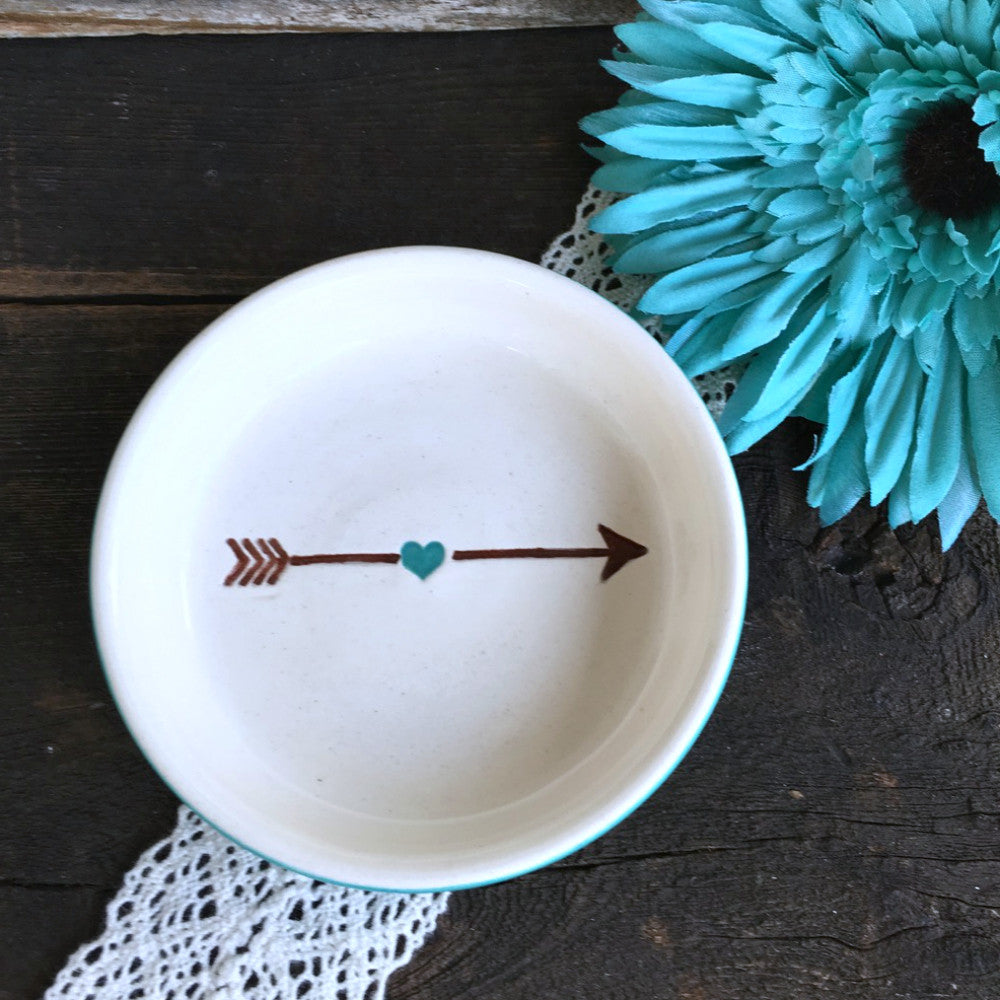 Heart & Arrow Ring Dish by Say Your Piece!