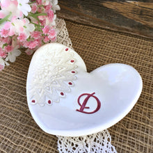 Heart Shaped Lace Design Monogrammed Dish - Say Your Piece!