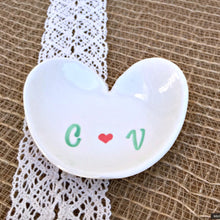 Romantic Heart-Shaped Personalized Ring Dish - Say Your Piece!
