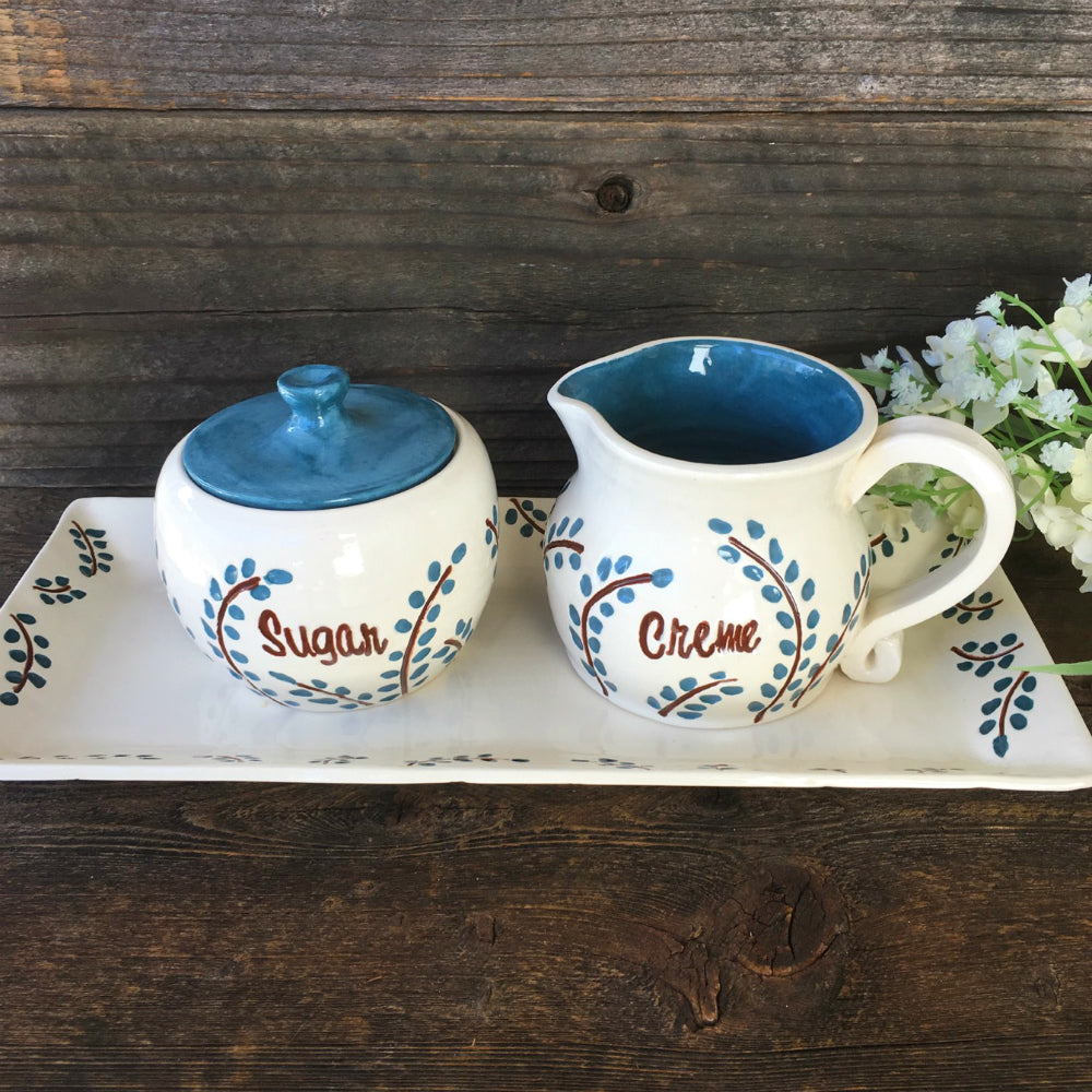 Custom Sugar & Creamer Set - K. Luse - Say Your Piece!