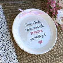Today a Bride Keepsake Plate by Say Your Piece!