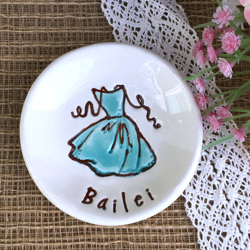 Party Dress Bridesmaid Ring Dish Gift by Say Your Piece!