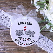 Elephants in Love Personalized Engagement Ornament - Say Your Piece!