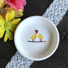 Love Birds Ring Dish - Made to Order w/Custom Colors - Say Your Piece!