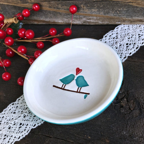 Love Birds Ring Dish - Gift Ready to Ship - Say Your Piece!