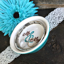 Mr & Mrs Script Ring & Jewelry Dish - Gift Ready to Ship - Say Your Piece!