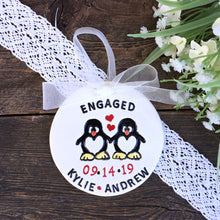 Engagement Ornament / Wedding Ornament - For Penguin Enthusiasts - Say Your Piece!