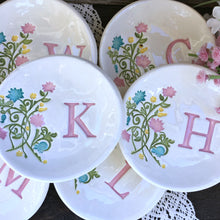 Floral Monogrammed Ring Dish - Say Your Piece!