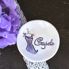 Bridesmaid Gift Ring Dish w/Spaghetti Strap Bridesmaid Dress Image - Say Your Piece!