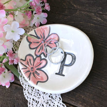 Oval Floral Monogrammed Ring Dish - Say Your Piece!