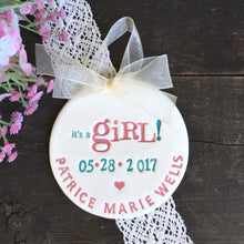 Its a Girl! Birth Announcement Ornament - Say Your Piece!