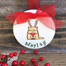 Reindeer Kitty Christmas Ornament by Say Your Piece!