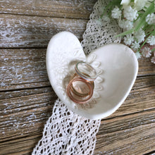 Lace Embossed Heart Shaped Ring Dish - Say Your Piece!