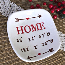 Latitude & Longitude Personalized Gift Dish - Say Your Piece!