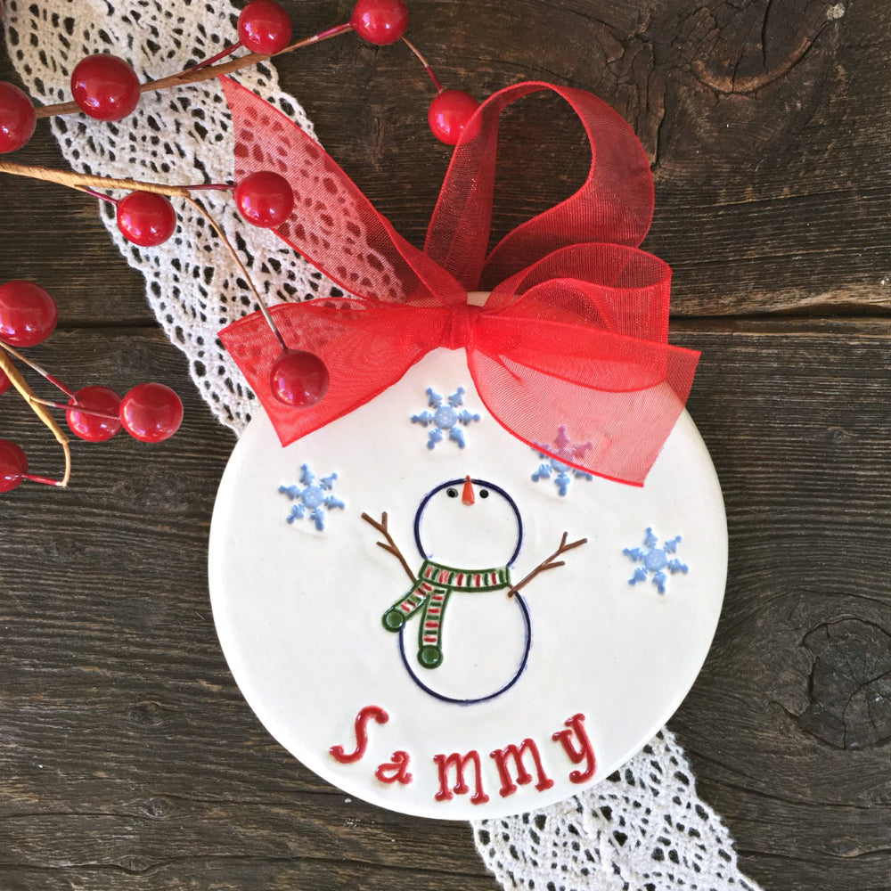 Let it Snow! Personalized Snowman Ornament - Say Your Piece!
