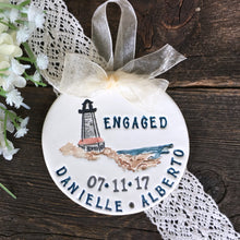 Personalized Engagement Ornament - Lighthouse Proposal - Say Your Piece!