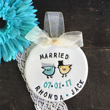 Wedding Ornament w/Love Bird Couple by Say Your Piece!