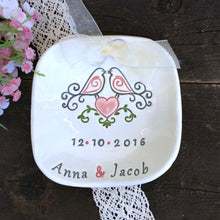 Love Doves Personalized Wedding Ring Holder - Say Your Piece!