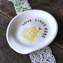 Love Lives Here Ceramic Spoon Rest - Say Your Piece!