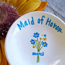 Merci Bouquet! Personalized Maid of Honor Ring Dish Gift - Say Your Piece!