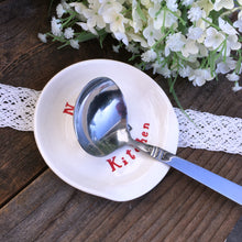 Nana's Kitchen Personalized Ceramic Spoon Rest