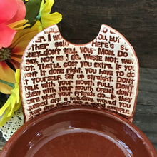 Standing Spoon Rest - Mom's Words of Wisdom - Say Your Piece!