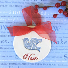 Swirl Dove Personalized Christmas Ornament - Say Your Piece!