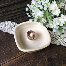 Square Stoneware Ring Holder - Say Your Piece!
