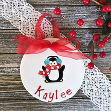 Personalized Penguin Christmas Ornament - Say Your Piece!
