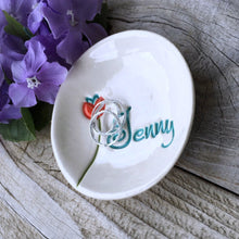 Single Bloom Personalized Ring Dish - Say Your Piece!