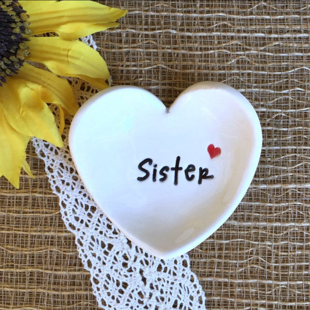 Heart Shaped Ring Dish - Gift for Sister - Say Your Piece!
