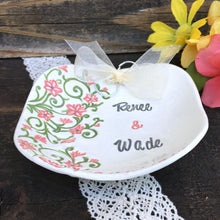 Spring Floral Ring Bearer Bowl by Say Your Piece!