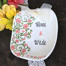Spring Floral Personalized Ring Bearer Bowl - Say Your Piece!
