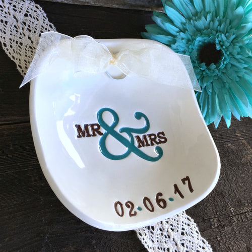 Square Mr & Mrs Ring Bearer Bowl - Say Your Piece!