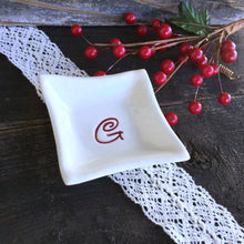 Modern Square Monogrammed Ring Dish - Say Your Piece!