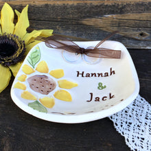 Sunflower Ring Bearer Bowl - Say Your Piece!