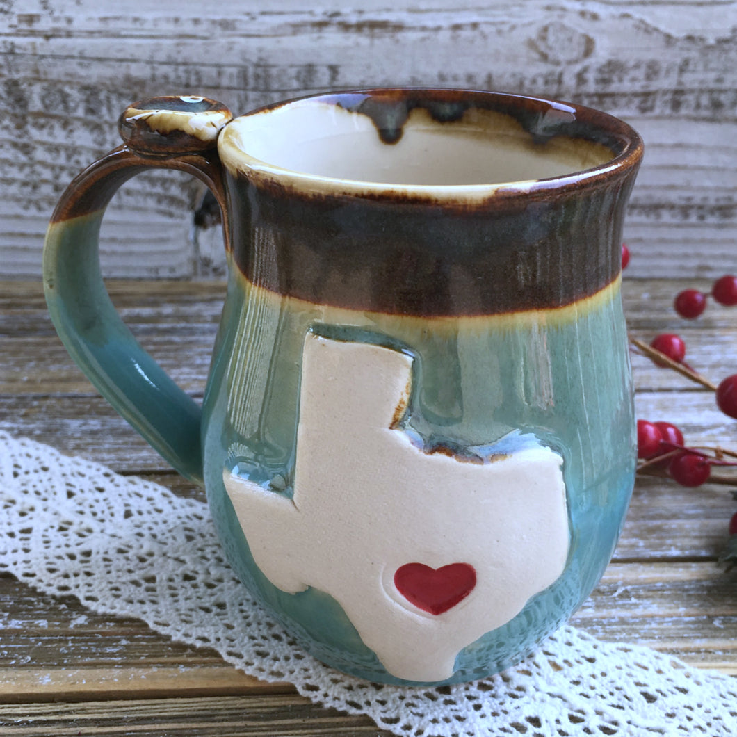 Stoneware Texas State Mug - Say Your Piece!