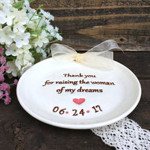 Thank You for Raising the Woman of My Dreams - Wedding Keepsake for Parents - Say Your Piece!