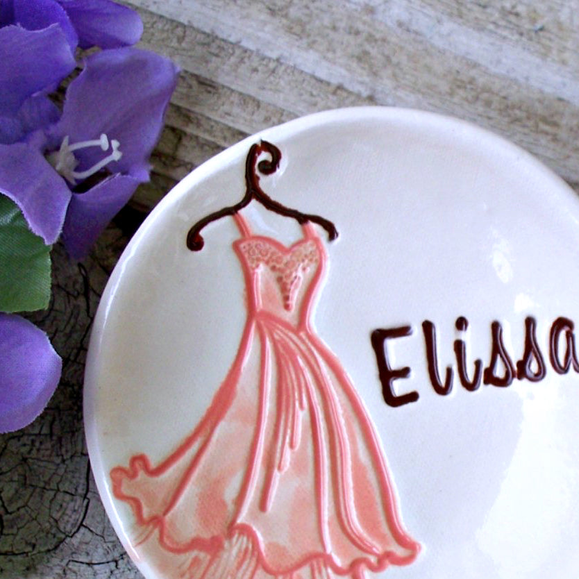 Tiered Gown Ring Dish for Bridesmaids - Say Your Piece!